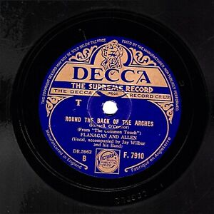 1941 WARTIME FLANAGAN & ALLEN 78 ROUND THE BACK OF THE ARCHES UK DECCA F 7910 V+