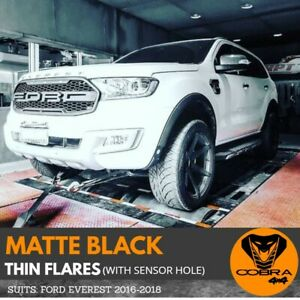 Matte Black Flares Fits Ford Everest 2016 2017 to 2020 Thin Skinny Fenders OEM