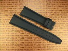 New 20mm Black Leather Strap Fabric Kevlar Watch Band IWC PILOT Spitfire Top Gun