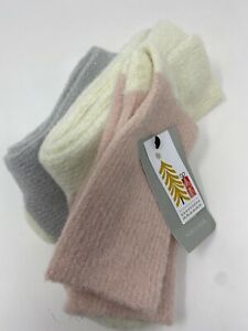 NWT NORDSTROM One Size 3-Pack Cozy Sparkle Ribbed Socks Pink / White /  Gray