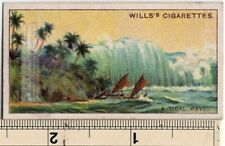 Tsunami Tidal Sea Wave 90+ Y/O Ad Trade Card