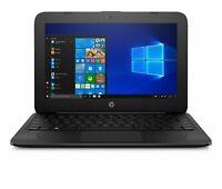New Sealed HP Stream 11-ah117wm 11.6 HD N4000 4GB RAM 32GB eMMC Windows 10 Black