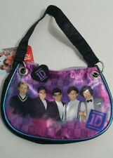 1D One Direction Girls Purse Tote Shoulder Bag Handbag Black Purple  NWT