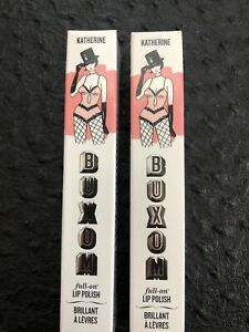 Lot Of (2) BUXOM Full On Lip Polish - Katherine (peach rose) Full Size Boxed