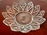 """Pair of Vintage Clear glass candy dishes 5.5"""" Free Shipping"""