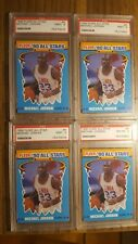 1990 FLEER BASKETBALL # 5 MICHAEL JORDAN LAST DANCE LOT . 3 PSA 9, 1 PSA 8