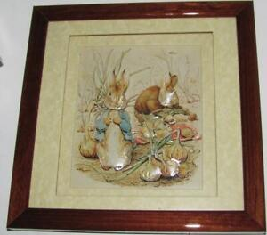 Beatrix Potter Decoupage Picture Studios of John Ellam Peter Rabbit