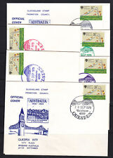 SOUVENIR COVER:  1979 QUESPEX SET OF 6 COVERS  WOW!!! NOT A SPOT ON THEM.