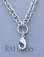 4-6mm Silver Rolo Chain Necklace for Floating Charms Memory locket O Ring