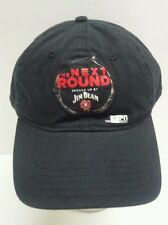 The Next Round Served Up by Jim Beam Bourbon Black Adjustable Hat Cap New