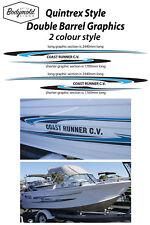 Quintrex COAST RUNNER CV (Double Barrel graphics) 2 colour style