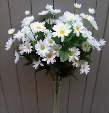 Artificial Daisy Flower Bush - Full of White Silk Daisies