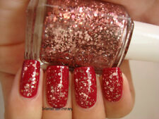 NEW! Essie nail polish lacquer in A CUT ABOVE ~ Blue Glitter Top Coat PINK/ROSE