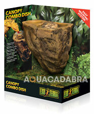 EXO TERRA CANOPY COMBO DISH ARBOREAL FOOD & WATER DISH REPTILE TERRARIUM VIV