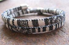 Ethno Armband schwarz weiß bunt Herren Damen Surfer Wickel Bracelet Südamerika