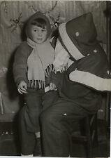 PHOTO ANCIENNE - VINTAGE SNAPSHOT -PÈRE NOËL FÊTE DÉGUISEMENT ENFANT-CHRISTMAS 1