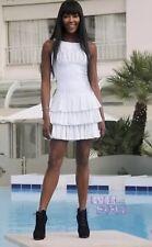Auth NWT-Azzedine Alaïa Robe Aigrette Chair Blanc Dress Sz 38 $5345. SOLD OUT!!!