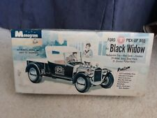 Vintage Monogram Black Widow Model T Show & Go Pickup Model Kit