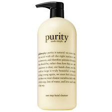 New Philosophy Purity Made Simple One-Step Facial Cleanser with Pump, 32 OZ