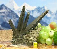 Rare Chlorite Quartz Crystal Cluster Himalayan -Natural Healing Raw Mineral 136g