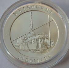 10 Dollars 1998, Australia - Elizabeth II, Melbourne Tram, low mintage, Ag 999