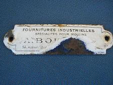 ancienne plaque émaillée plaque emaillé vintage design deco loft industriel