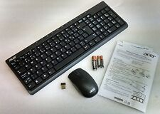 NEW Acer Wireless Keyboard Mouse Set Bilingual French-English SK-9660 SM-9063
