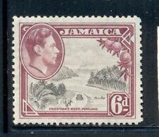 JAMAICA 123a SG128 MH 1938 6p KGVI Priestman's River Perf 12&1/2 Cat$6