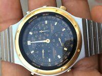 Citizen chronograph quartz Japan GN-4-S 3530A Rare Men watch for parts repair