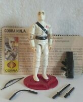Vintage Hasbro GI Joe ARAH 1984 V1 Storm Shadow Complete W/File Card HK COO/NM+!