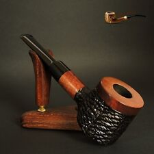 """HAND MADE UNIQUE  WOODEN  TOBACCO SMOKING PIPE Poker """" No 63 """" Brown"""