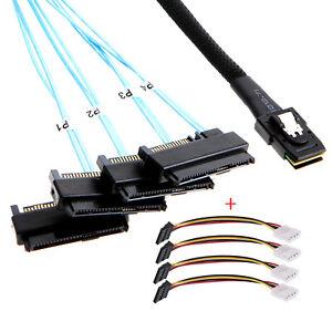 xiwai Internal 36 Pin Mini SAS SFF-8087 Host to 4 SFF-8482 Target SAS IDE Cable
