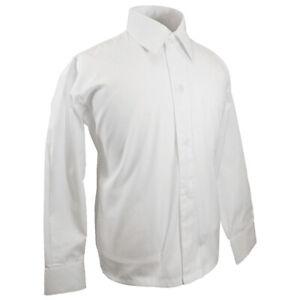Paul Malone Kinderhemd Jungenhemd festlich weiß - Jungen Kinder Hemd langarm