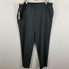 NWT Savane Comfort Waist Mens Charcoal Flat Front Washable Dress Pants Sz 40x30