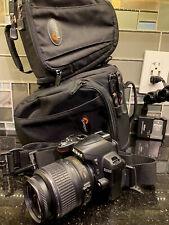 Nikon D3000 Digital Slr Camera w/ Af-S Nikkor 18-55mm Lens 2 Bags Charger