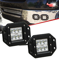 One Pair 4X4inch Dually Flush Mount Lights CREE LED Cube Pods Work Offroad Truck