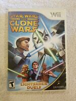 Star Wars The Clone Wars: Lightsaber Duels (Nintendo Wii, 2007) Complete CLEAN