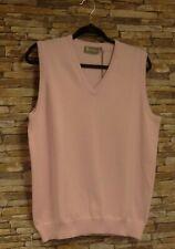 Glenmuir Ladies Pale Pink 100% Cotton Fine Knit Slipover Size XL New