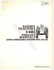 Mitsubishi Satoh S-630 Workshop Repair Service Manual On CD
