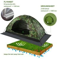 1 Person Camping Tent UV Protection Waterproof Windproof Outdoor Hiking Tent+Bag