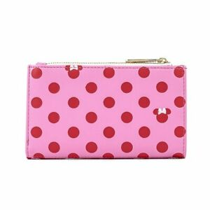 Disney Minnie Mouse Pink & Red Polka Dot Flap Wallet