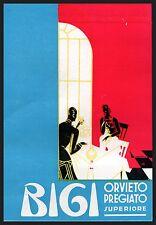 LUIGI BIGI ORVIETO PREGIATO SUPERIORE VINO FIASCO CENA RISTORANTE BRINDISI 1954