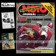 MOTO JOURNAL N°369 KORK BALLINGTON ELF X KAWASAKI Z 1000 Z1R FORMULE 750 1978
