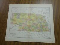 Nice color map of the State of Nebraska.  Printed 1891 by Chambers.