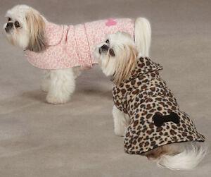 Dog Posh Leopard Fleece Coat Jacket  XXS - XXL  pet barn coats jackets pink Soft