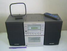 SHARP DESKTOP HOME AUDIO COMPACT SYSTEM XL-505 w/ Remote -Works!!!