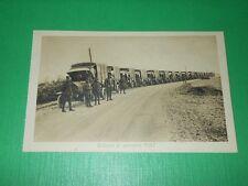 Cartolina Militaria - Colonna di autocarri FIAT 1930 ca