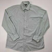 RODD & GUNN Men's Size XL Long Sleeve Button Front Shirt Stripe Green White-SI15