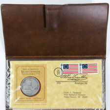 USA 1975 Postal Service Bicentennial Commemorative Coin, Stamps COA & Facts