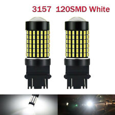 2x 3157 T25 120SMD 4157 LED Turn Signal Lights DRL White 6000K Bulb Super Bright